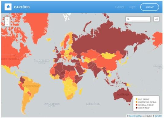 Mapped- Terror threat around the world - Telegraph 2015-06-30 22-58-48